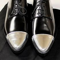 Dsquared2 Shoes 750 Black/silver Cap Toe Rockabilly Derby 9.5 42.5e New Photo