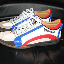 Dsquared2 Suede & Leather Kick It 1964 Low-Top Sneakers 43 Photo