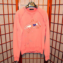 Dsquared2 Surfer Boy Destroyed Stitch Paint Rare Sweater Jacket Jean L M Medium Photo