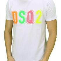Dsquared2 /- T- Shirt Dsq2 Logo /- Xlsize /- White Color /- Top Model Photo
