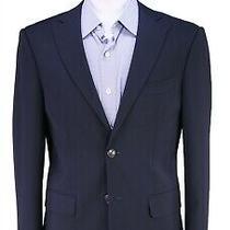 Dsquared2 Toronto Cut Solid Navy Blue 2-Btn Slim Fit Wool Blazer Jacket 38r Photo