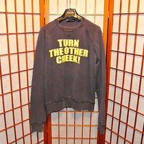 Dsquared2 Turn the Other Cheek Destroyed Sweater Pullover Shirt Jeans Large M L Photo