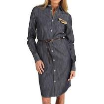 Dsquared2 Women's (Euro-44)(Us-6) Margaret Light Denim Dress Shirt Nwt Photo