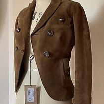 Dsquared2 Womens Tan Suede Blazer Jacket Size 40 Uk 6-8 Photo
