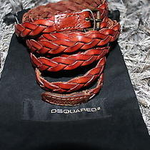 Dsquared2 Woven Leather Belt Authentic Photo