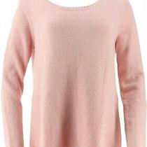Du Jour Long Slv Sweater Tunic Knot Back Blush Pink 1x New A347575 Photo