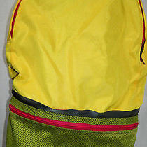 Dubbel Duffel Fanny Pack Backpack Yellow/light Green Backpack Photo