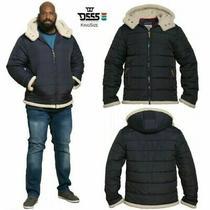 Duke Hudson Big Tall Mens Sizes Hooded Jacket Sherpa Lined Puffer Coat Navy Blue Photo