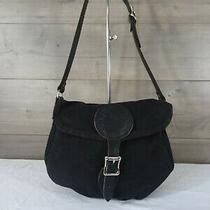 Duluth Pack Black Canvas Leather Shell Purse Crossbody Bag Tote Satchel Photo