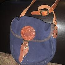 Duluth Pack Blue  Canvas Leather Shell Purse Crossbody Bag Tote Photo