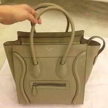 Dune Celine Micro Luggage Tote Drummed Calfskin Leather - Bnwt Photo
