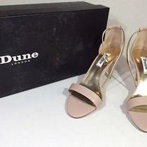 Dune London Marissa Blush Leather Sz 5   Ankle Strap Heels Sandals Z3 830 Photo