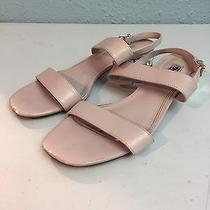 Dune London Ninah Jewel Block Heel Leather Blush Sandals Womens Size 8 M Photo