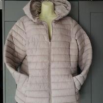 Dunnes Puffer Jacket Coat Blush Dusky Pink Lightweight Size L 14/16 Photo