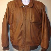 Durkee's Express Flight Jacket Finest Marble Cowhide Leather Bomber Jacket Sz L Photo