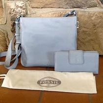 Dusty Blue Fossil Handbag and Matching Wallet Photo