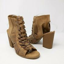 Dv by Dolce Vita Cagged Chunky Heel Sandal Tan Size 9 Photo