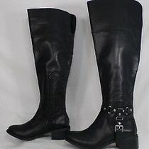Dv by Dolce Vita 'Coup' Black Faux Leather Over-the-Knee Riding Boot Size 6.5 M Photo