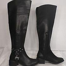 Dv by Dolce Vita 'Coup' Black Faux Leather Tall Equestrian Boot Women Size 6 M  Photo