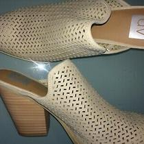 Dv by Dolce Vita Kenli Perforated Mules/clogs/booties Gray/beige Size 9 Photo