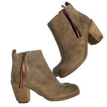 Dv by Dolce Vita Lt Brown Leather Zip Up Ankle Boots Booties Size 6.5 New Photo