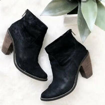 Dv Dolce Vita Black Leather Zip Ankle  Bootie Size 8 Photo