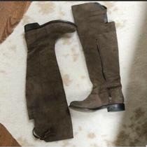 Dv Dolce Vita Genuine Leather Flat Over-the-Knee Boots Size 6 Photo