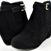 Dv Dolce Vita Parkers Black Suede Womens Designer Shoes Ankle Boots Heels 6 Photo