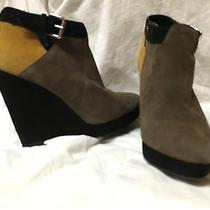 Dv Dolce Vita Suede Wedge Ankle Boots Size 7 Photo
