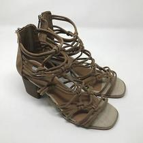 Dv Dolce Vita Women's Tan Strappy Block Heel Sandals Size 9.5 Photo