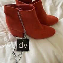Dv Dolce Vita Womens Target Shoes Size 9.5  High Heel Boots Red Suede New Nwt Photo