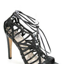 Dv Dolce Vita Womens Leather Strappy Lace Up Sandal Heels Black Size 6 Photo