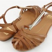 Dv Dolce Vita Zen Cognac Womens Designer Shoes T Strap Sandals Flats 6.5 Photo