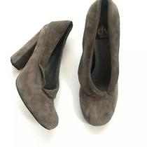 Dv Suede Block Heel Pumps Taupe Shoes 6.5 Gray Booties Women Dolce Vita Photo