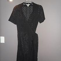Dvf Black  Summer Wrapp Dress Size 6 Photo