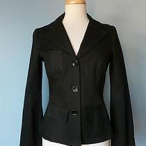 Dvf Diane Von Furstenberg Black 3 Pockets Jacket Top Women Sz 6 S Xs Lined Photo
