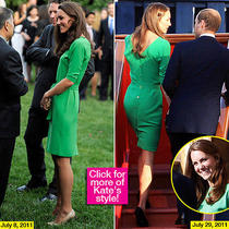 Dvf Diane Von Furstenberg Green Dress Maja Kate Middleton Size 4 Photo