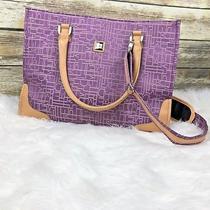 Dvf Diane Von Furstenberg Large Handbag Tote Shoulder Bag Purple Traveling Photo