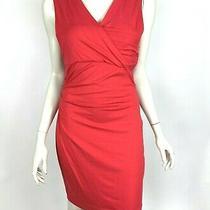 Dvf Diane Von Furstenberg Parker Draped Crossover Jersey Dress Red Women M 285 Photo