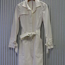 Dvf Diane Von Furstenberg White Trench Classy Jacket Coat Size 2 Stage Costume  Photo