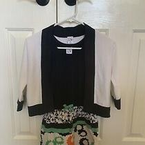 Dvf Gap Kids Black Floral Tank Dress With Matching Sweater Size S Photo