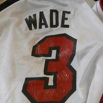 Dwayne Wade Miami Heat Reebok Used  Jersey Adult Large Photo