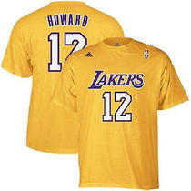 Dwight Howard  Laker Name & Number T-Shirt (Gold)- Size X-Large Photo