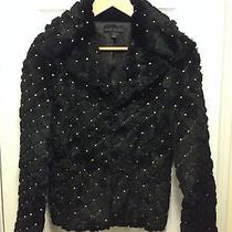 Dyed Rabbit Fur Jacket Size S Black  Photo