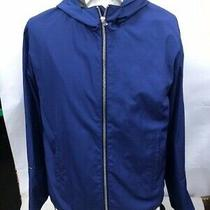 850 Balenciaga Paris Spring Jacket  Tg 48 Man  Blue Made in Italy  Zip Hood Photo