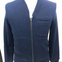 930 Emporio Armani Spring Jacket  Tg 48 Man Blue Made in Italy  Photo