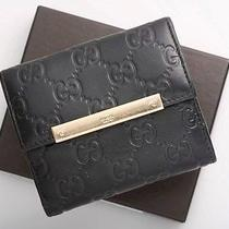 E0255 Authentic Gucci  Leather Wallet Made in Italy Photo