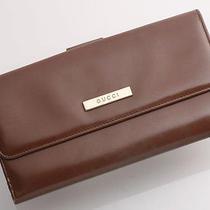 E0545 Authentic Gucci Pvc Long Wallet Photo