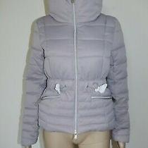 170 Guess Sz M Womens Coat Jacket Puffa Winter Puffer Parka Taupe Short Zipper Photo