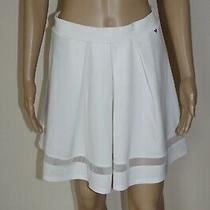 60 Guess Sz M New Womens Skirt Clubwear Tulle Mesh Stripes Mini Evening Summer Photo